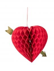 Hängande hjärta i dragspelspapper 20 cm