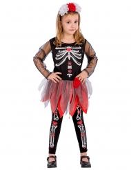 De dödas dag-prinsessa i rött - Halloweenkostym för barn