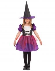 Häxan Violett - Halloweenkostym för barn