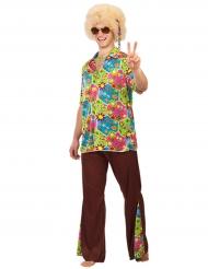 Fredliga fredrik - Hippiedräkt för vuxna