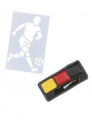 Röd-svart-gult sminkkit för supportern - Supporterprylar