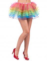 Regnbågsfärgad tyllkjol för vuxna till maskeraden