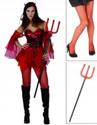 Fröken Lucy med eldgaffeln - Komplett Halloweenkit för vuxna
