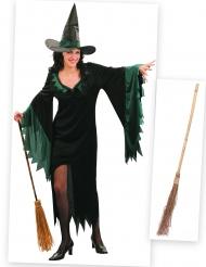 Häxan med sin kvast - Halloweenkit för vuxna