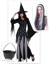 Läskig häxa - Komplett Halloweenkit för vuxna