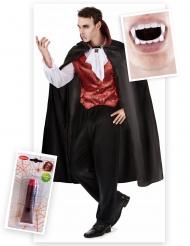 Elegant vampyr - Komplett Halloweenkit för vuxna
