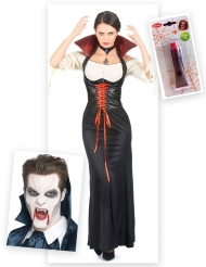 Komplett vampyrkit för vuxna till Halloween