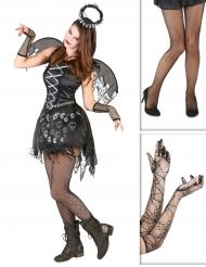 Gotisk ängel - Komplett Halloweenkit för vuxna