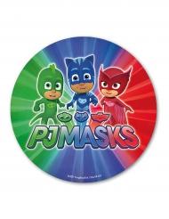 Tårtbild från pyjamashjältarna på färggrann bakgrund
