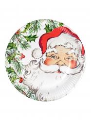 8 Papptallrikar med jultomten 23 cm