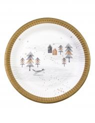 Räven raskar över isen - Kartongtallrikar till jul 23cm