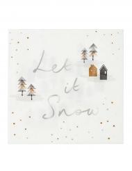 Let it Snow - Servetter till jul 33 x 33 cm
