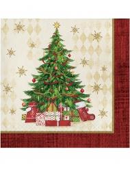 16 servetter i papper 33 x 33 till jul