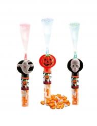 Ljusstav med godis i till Halloween