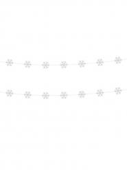 2 girlanger med snöflingor till julfesten 180 cm