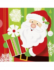 Kära tomten - 16 pappersservetter till jul 33 x 33 cm