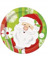 Kära tomten - 8 småtallrikar till jul 18 cm