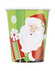 8 Pappmuggar med jultomte och julklapp 270 ml