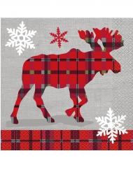 Julstugan - 16 servetter i papper 33 x 33 cm