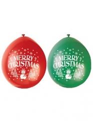 Merry Christmas - 10 ballonger till julfesten 23 cm