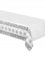 Fall vita snö - Bordduk i papper med snöflingor 137 x 259 cm