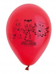 8 röda ballonger i latex från Pyjamashjältarna™