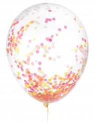 6 Latexballonger med konfetti som lyser mörkret 30cm