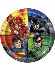 8 tallrikar i kartong till kalaset från Justice League™ 23 cm