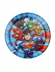 8 små tallrikar till kalaset från Justice League™ 18 cm