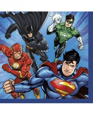 16 små servetter från Justice League™ 25 x 25 cm