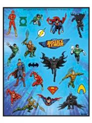 4 ark med stickers från Justice League™ - Kul till kalaset