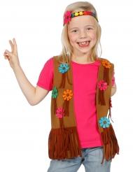 Väst och pannband med blommor - Hippiedräkt för barn