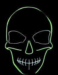 Neonfärgat skelett - Maskeradmask till Halloween för vuxna