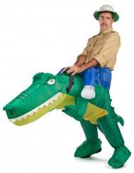 Krokodilsafari - Uppblåsbar maskeraddräkt för vuxna