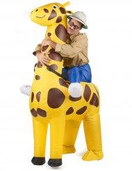 På giraffsafari - Uppblåsbar maskeraddräkt för vuxna