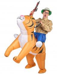 På tigersafari - Uppblåsbar maskeraddräkt för vuxna