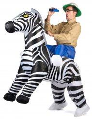 På Zebrasafari - Uppblåsbar maskeraddräkt för vuxna