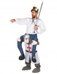 Stark riddare - Carry Me-dräkt för vuxna