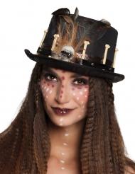 Woodoo - Hatt för vuxna till Halloweenfesten