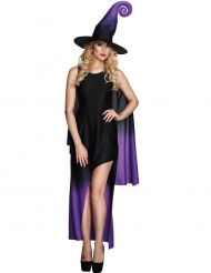 Ombre-lila häxa - Halloweenkläder för vxuna