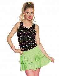 Vågig grön kjol dam