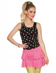 Vågig rosa kjol dam