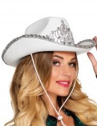 Vit Cowboyhatt för prinsessa
