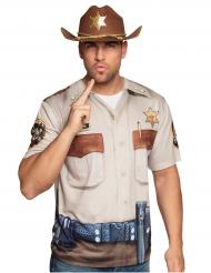 T-shirt med tryck av Sheriff - Maskeraddräkt för vuxna