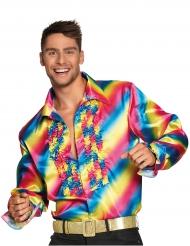 Regnbågsskjorta till discot för vuxna