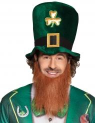 Leprechaun hatt med skägg till St. Patrick