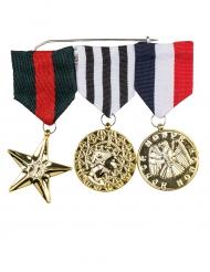 3 Militära medaljer vuxen