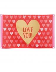 Love you - Flagga 60 x 90 cm