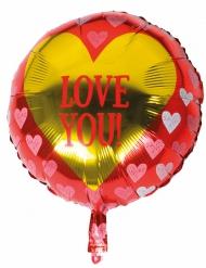 Love you - Aluminiumballong 45 cm