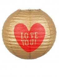Love you - Papperslykta 25 cm